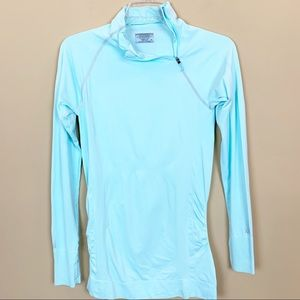 Athleta Finish Fast Asymmetric half zip pullover